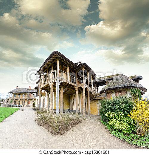 village of Marie Antoinette at Versailles - csp15361681