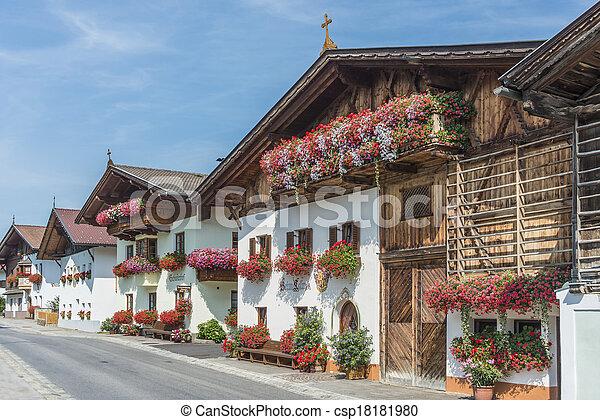 Village of Mutters near Innsbruck, Austria. - csp18181980
