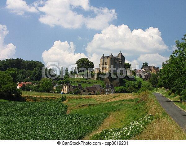 Village, Salignac, Castle - csp3019201