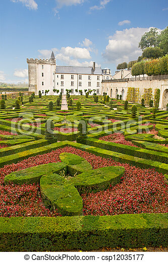 Villandry chateau, France - csp12035177