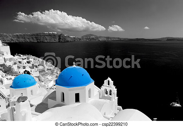 Ville le bleue d me oia santorini white glise for Piscine seynod ile bleue