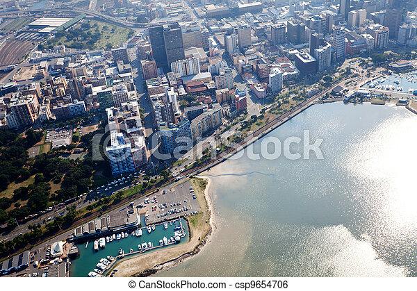 ville, afrique, durban, sud, cbd - csp9654706
