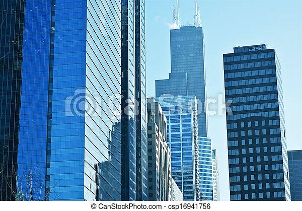ville, américain, moderne - csp16941756