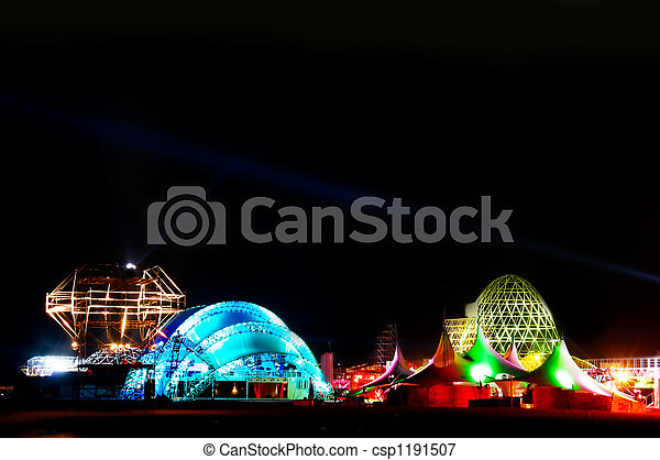 ville, avenir, nuit - csp1191507