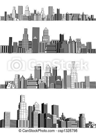 ville, blocs - csp1328798