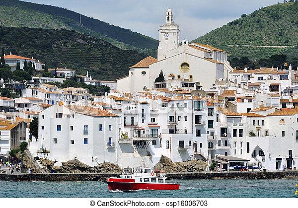 Ville bord mer cadaques espagne catalogne area - Ville bord de mer mediterranee ...