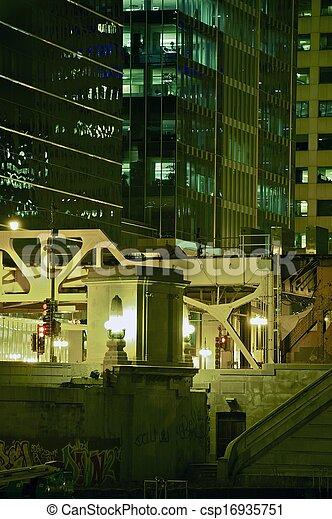ville, closeup, nuit - csp16935751