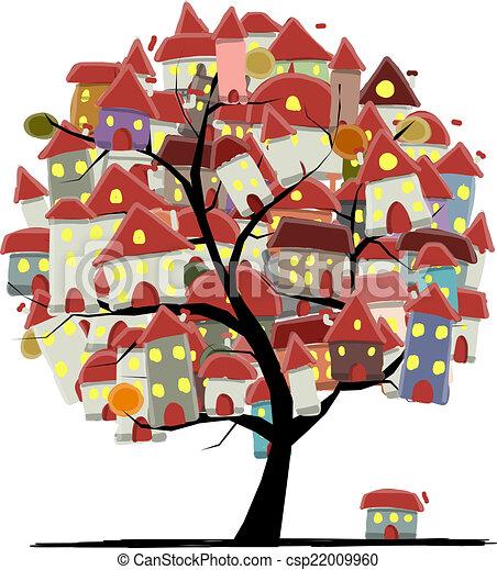 Ville concept art croquis arbre conception ton - Croquis arbre ...