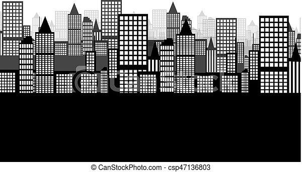 ville, fond - csp47136803