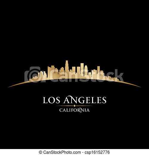 ville, illustration, silhouette., angeles, los, horizon, vecteur, californie - csp16152776