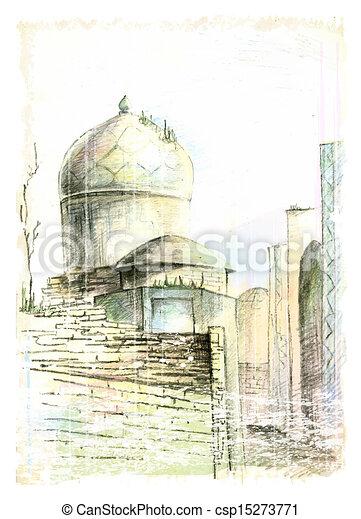Ville, image, rue, oriental illustration vecteurs - Rechercher des ...