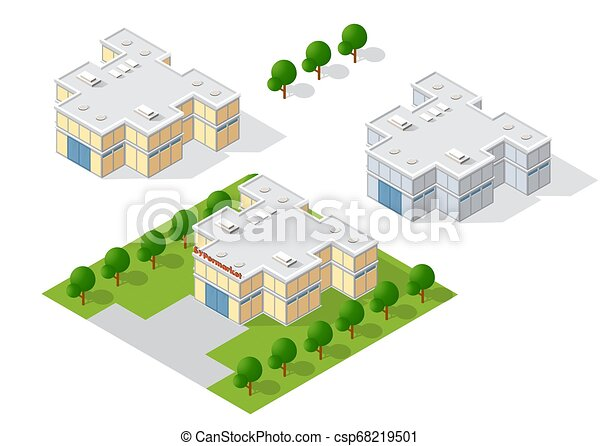 ville, isométrique, paysage, 3d - csp68219501
