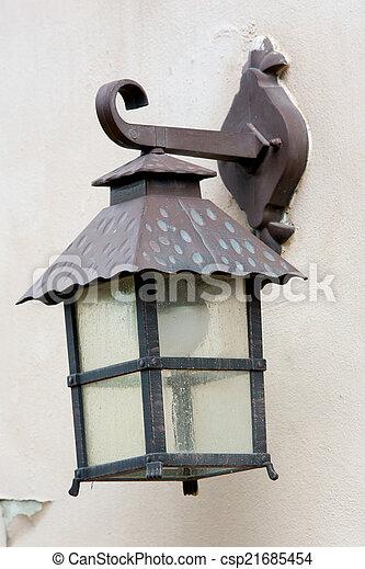 ville, lampe, vieux - csp21685454