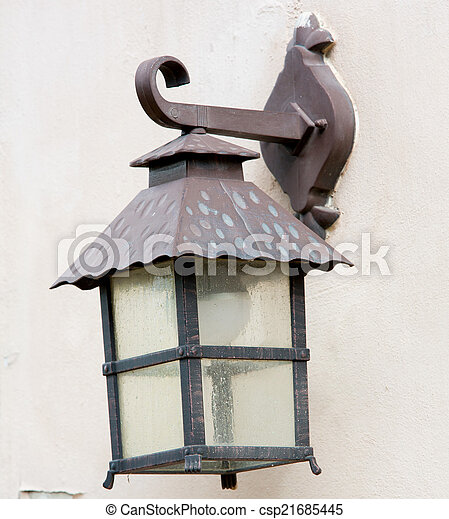 ville, lampe, vieux - csp21685445
