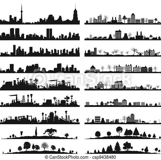 ville, landscape3 - csp9438480