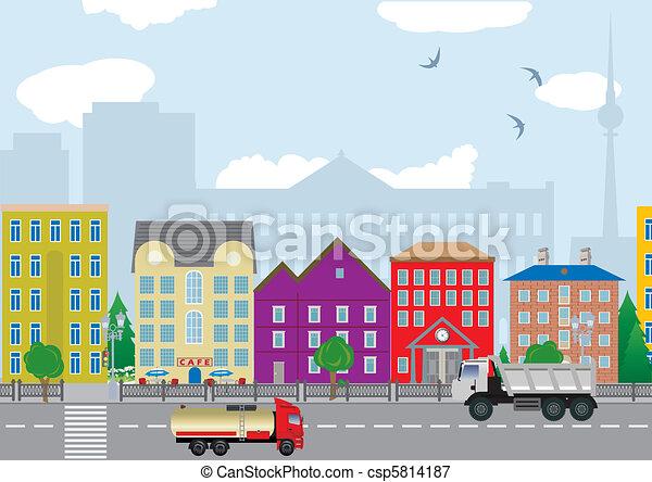 ville, maisons - csp5814187