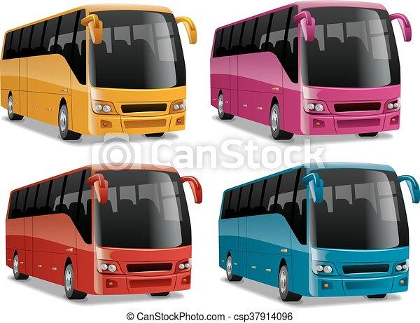 ville, moderne, confortable, autobus - csp37914096