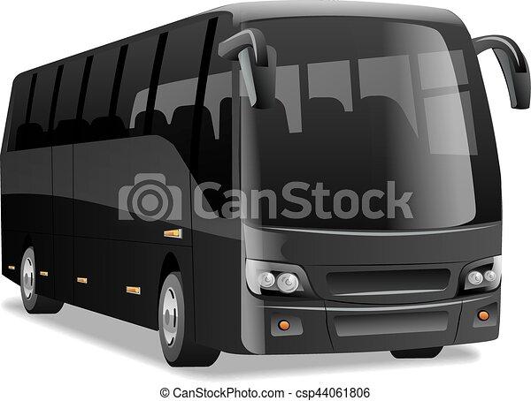 ville, noir, autobus - csp44061806