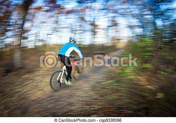 ville, parc bicyclette, autumn/fall, équitation, agréable, jour - csp8338096