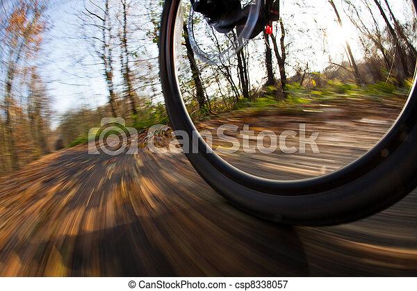 ville, parc bicyclette, autumn/fall, équitation, agréable, jour - csp8338057