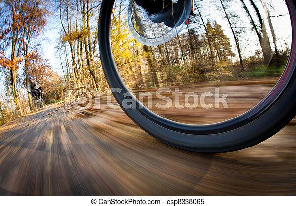 ville, parc bicyclette, autumn/fall, équitation, agréable, jour - csp8338065