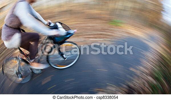 ville, parc bicyclette, autumn/fall, équitation, agréable, jour - csp8338054