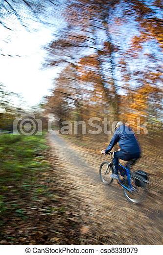 ville, parc bicyclette, autumn/fall, équitation, agréable, jour - csp8338079