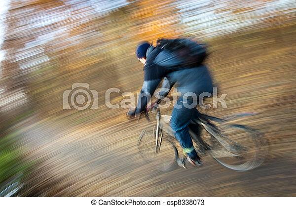 ville, parc bicyclette, autumn/fall, équitation, agréable, jour - csp8338073