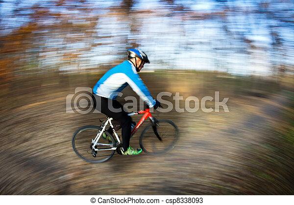 ville, parc bicyclette, autumn/fall, équitation, agréable, jour - csp8338093