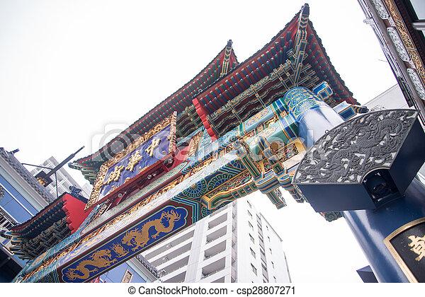 ville, porcelaine, symbolique, yokohama, portail - csp28807271