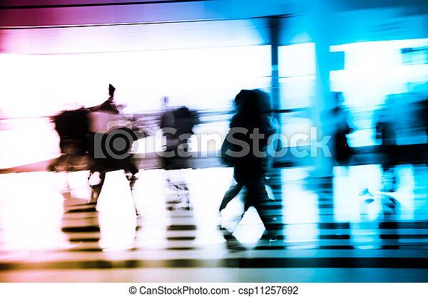 ville, résumé, business, gens arrière-plan - csp11257692