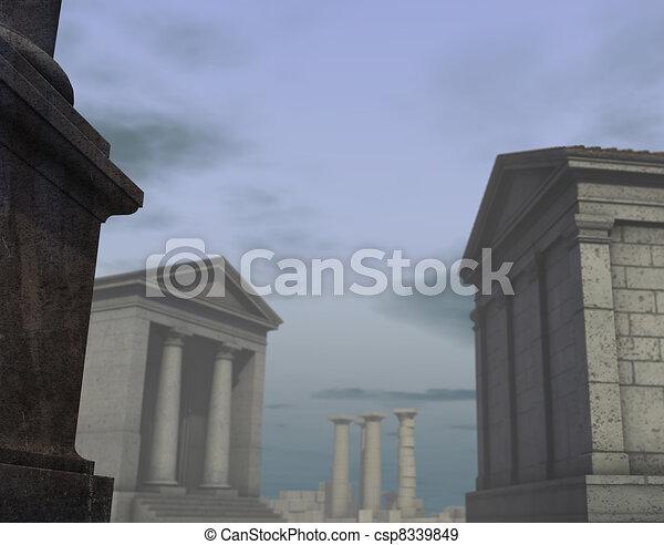 ville, render, grec classique, romain, historique, 3d - csp8339849