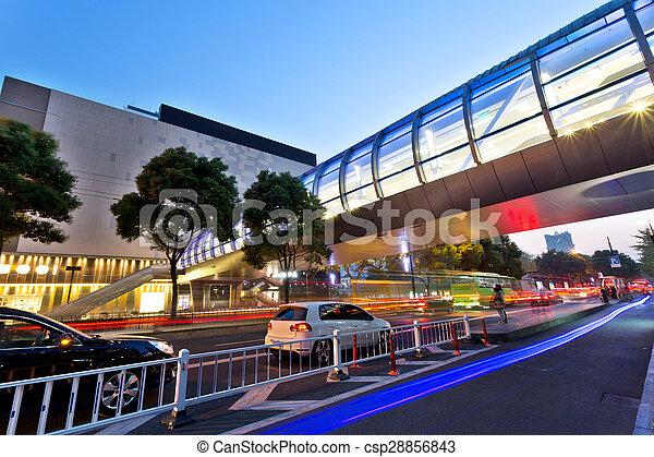 ville, siècle, moderne, nuit, avenue, vue - csp28856843