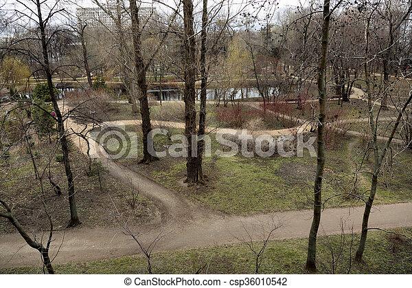 ville, vieux, parc - csp36010542