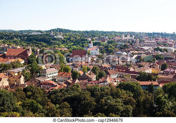 Vilnius cityscape - csp12946679