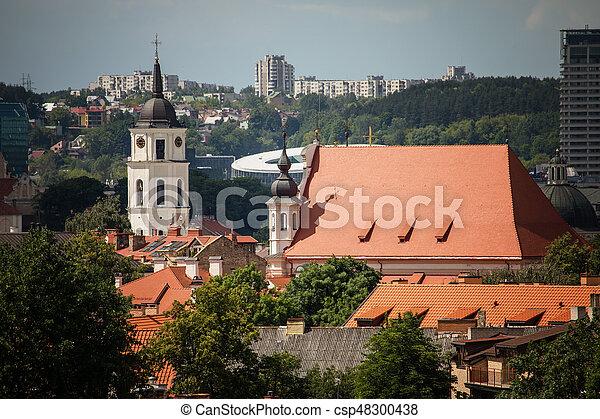 Vilnius old town cityscape, Lithuania - csp48300438