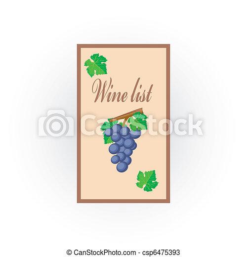 vin, liste, icône - csp6475393