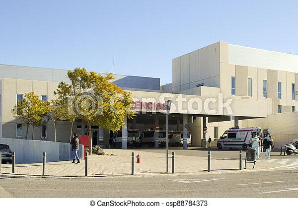 Vinalopo Hospital Emergency entrance in Elche - csp88784373
