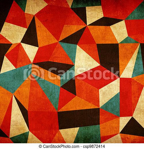 vindima, abstratos, coloridos, fundo - csp9872414