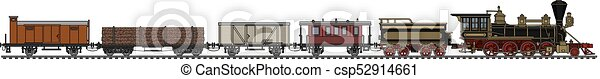 vindima, americano, trem, vapor - csp52914661