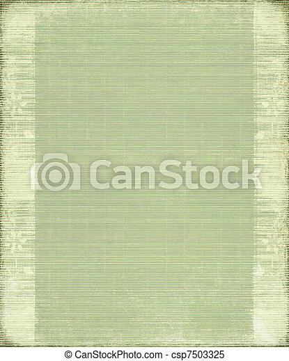 vindima, bambu, verde, guarnecido suportes, fundo - csp7503325
