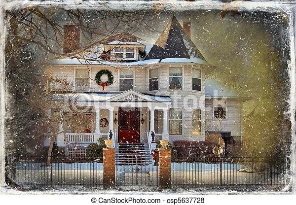 vindima, cartão natal - csp5637728
