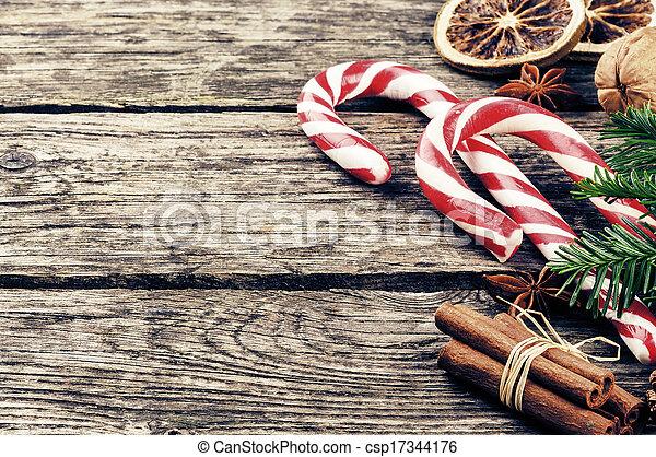 vindima, decorações natal - csp17344176