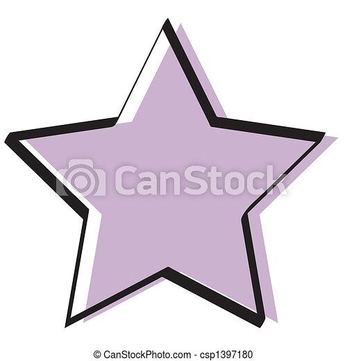 vindima, estrela, retro, fundo - csp1397180