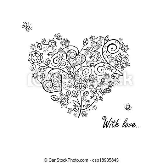 vindima, forma, coração - csp18935843
