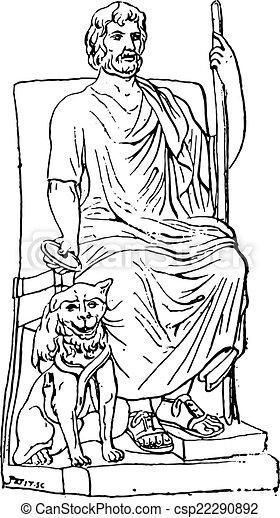 Vindima Hades Ou Plutao Engraving Fleury Illustration