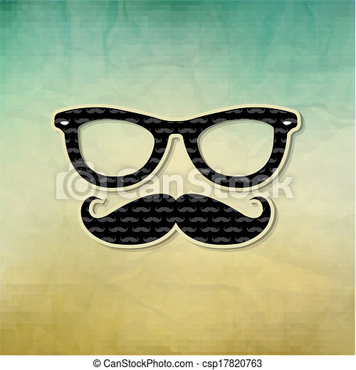 vindima, hipster, cartaz - csp17820763