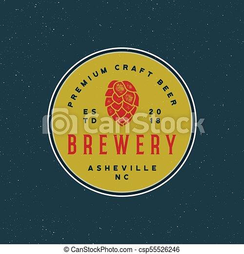 Vindima Ilustracao Emblem Cerveja Vetorial Retro Denominado