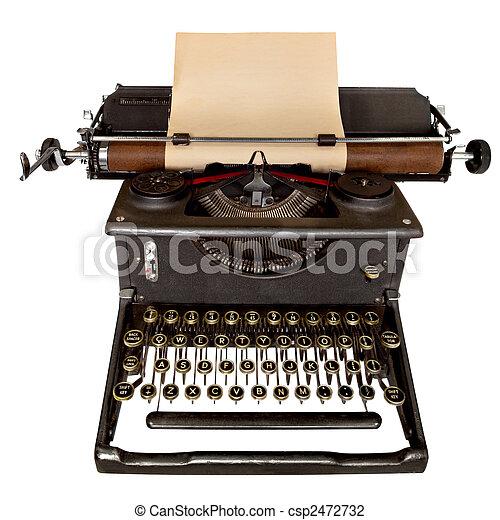 vindima, máquina escrever - csp2472732