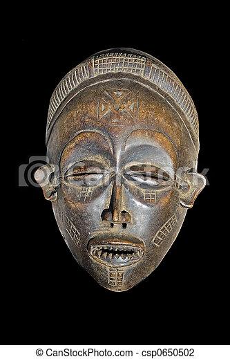 vindima, máscara, africano - csp0650502